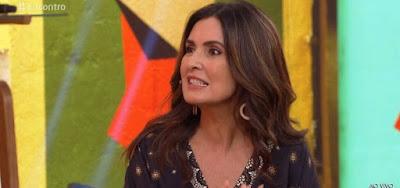 Fátima Bernardes no Encontro desta quarta-feira (24); apresentadora rebateu entrevistado que perguntou por Bonner