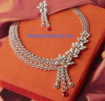 TBZ Diamond Bridal Necklace Sets Gallery  Jewellery Designs