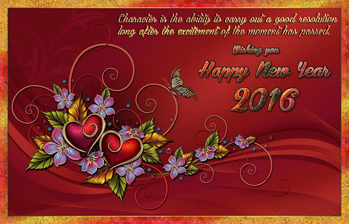 New Year 2016 Greetings eCards