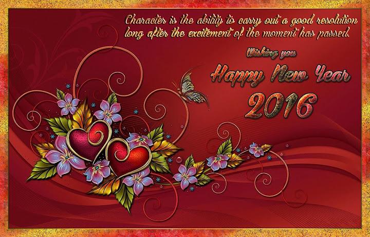 New Year 2016 Greetings eCards