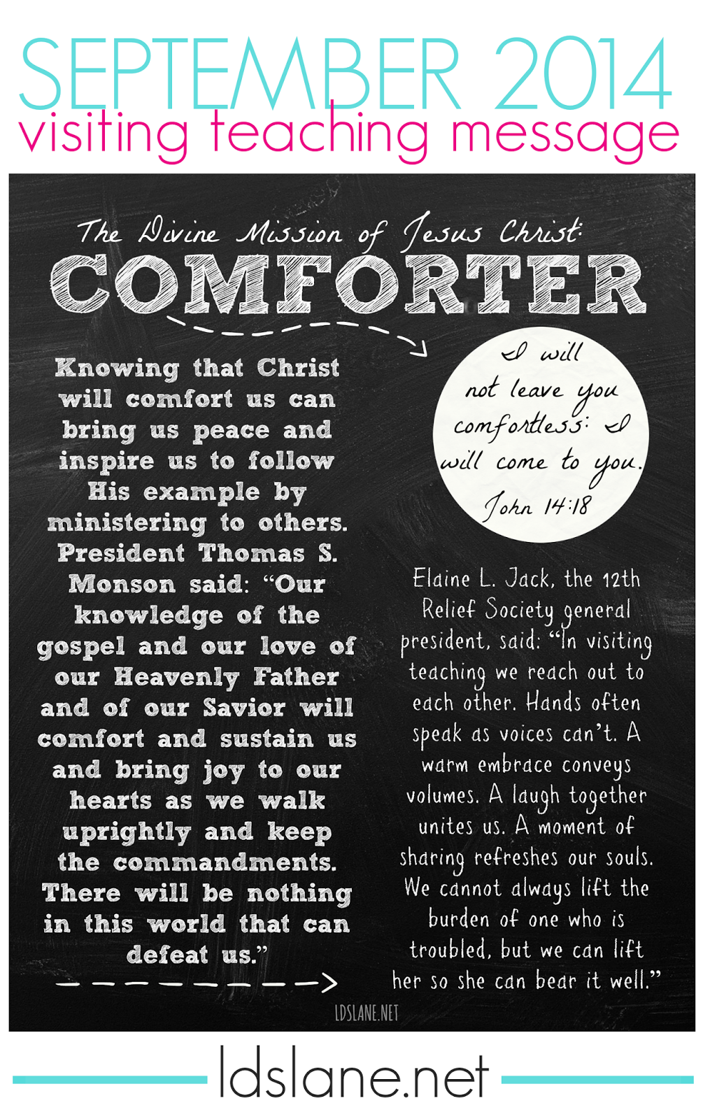September 2014 Visiting Teaching Message - free download - Comforter  ldslane.net