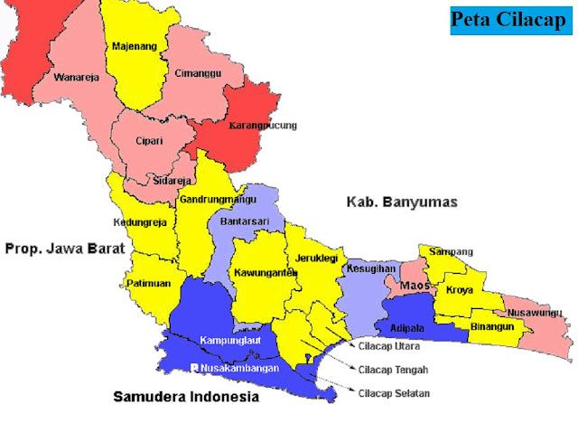 Peta Kabupaten Cilacap HD Lengkap