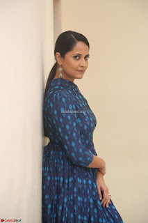 Anchor Anasuya in a Blue Gown at Jai Lava Kusa Trailer Launch ~  Exclusive Celebrities Galleries 046.JPG