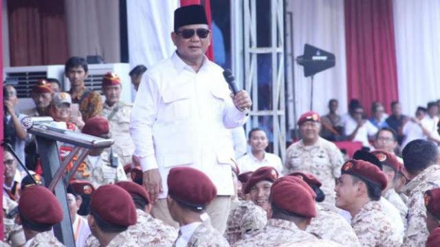 Sah! Gerindra Resmi Calonkan Prabowo Capres 2019