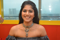Mega Akash in a sleeveless Off Shoulder Cute Dress Stunnign beauty at Radio Mirchi Promoting Movie LIE ~ Celebrities Galleries 005.JPG