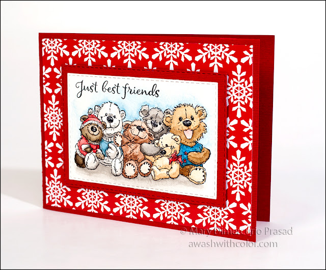 Bunch of Bears by Rubbernecker Stamps Watercolor Confections by Prima