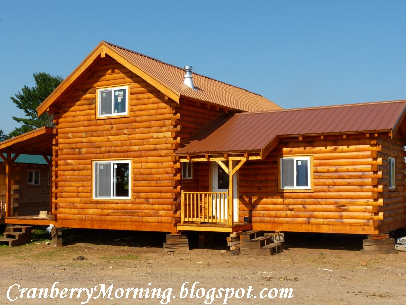 Cranberry morning draft horses and amish log cabins for Amish cabin company