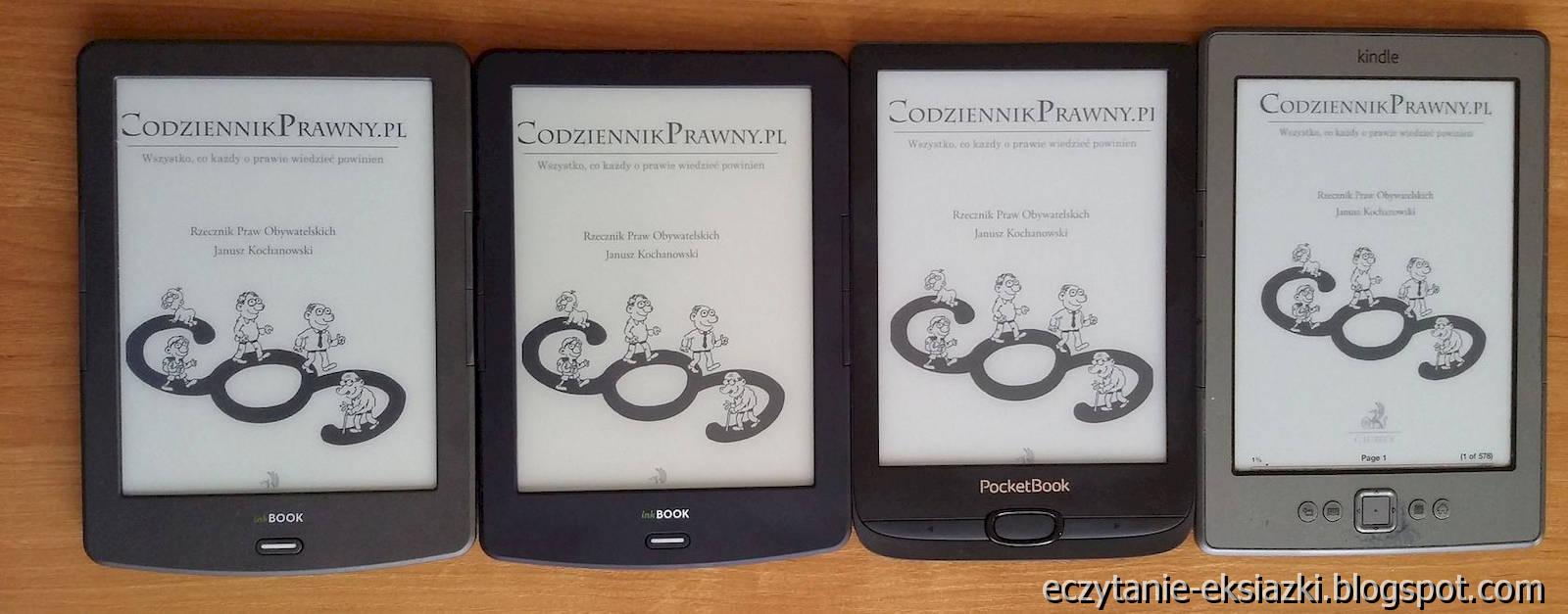 Porównanie ekranu – InkBOOK Classic 2, InkBOOK LUMOS i PocketBook Basic Lux 2