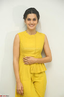 Taapsee Pannu looks mesmerizing in Yellow for her Telugu Movie Anando hma motion poster launch ~  Exclusive 090.JPG