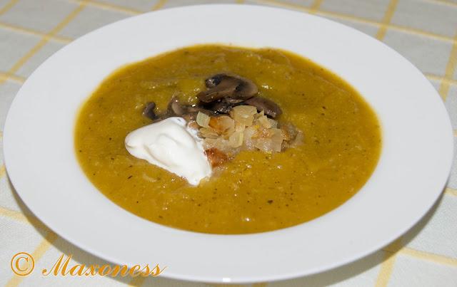 Пряный тыквенный суп-пюре