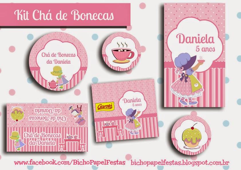 Kit Festa Digital Chá de Bonecas