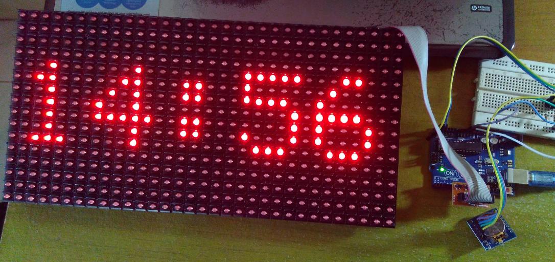 Project i jam digital menggunakan modul led matrix p