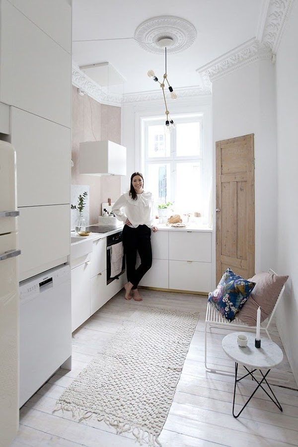 apartamento femenino con glamour