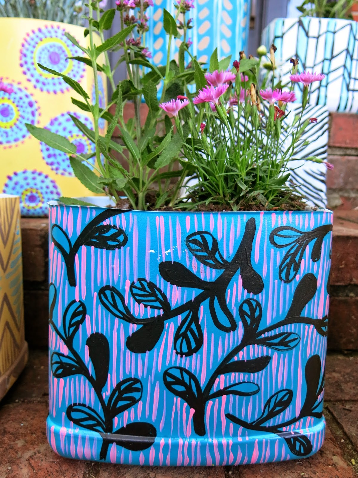 filled style spice hand planters painted planter