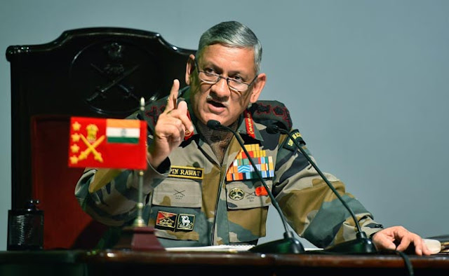 Image Attribute: Indian Army's Chief General Bipin Rawat inaugurated a workshop and exhibition of CBRN defense technologies at DRDO. Source: Press Trust of India
