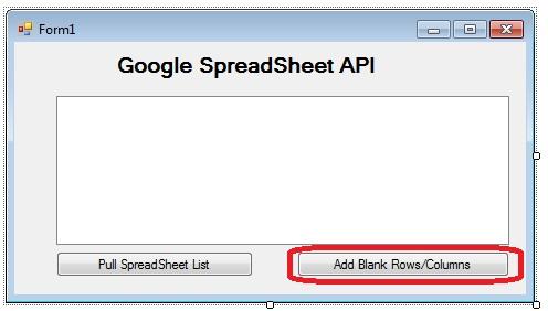 Singh Vikash blog: SpreadSheet API with  NET:How to add