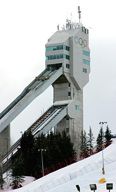 Canada Olympic Park Ski Jump Calgary Alberta