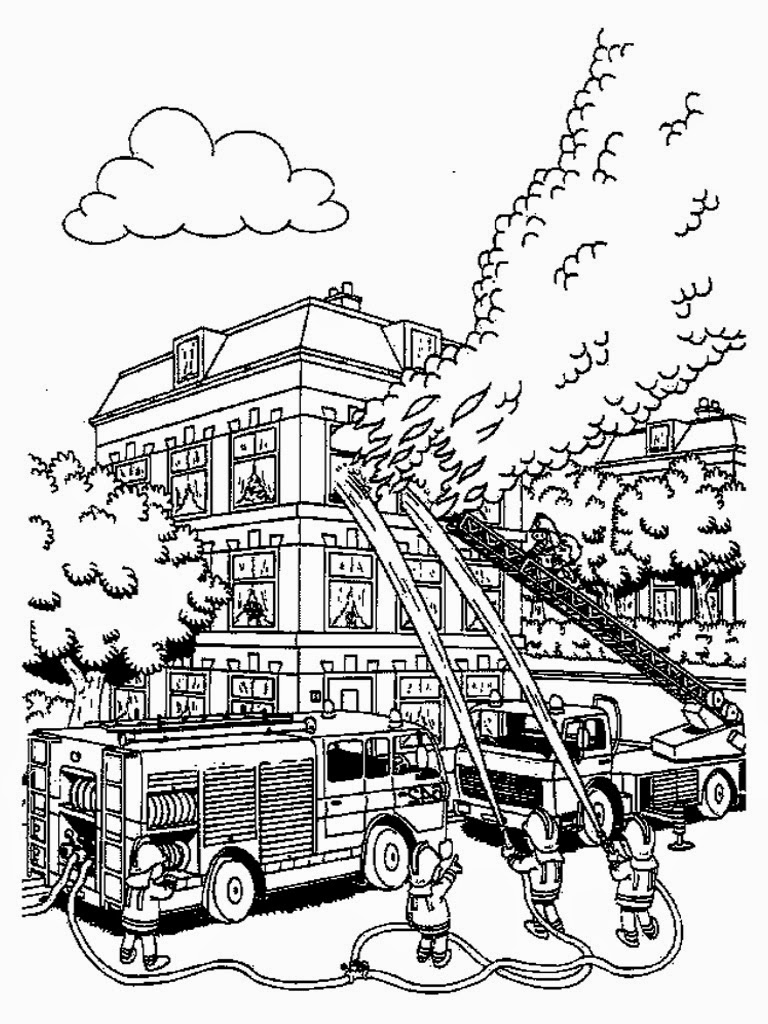firefighters printable coloring pages