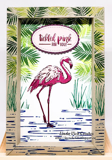 Linda Vich Creates: Fabulous Flamingo Shadow Box Frame. A vibrant shadow box frame showcases the Fabulous Flamingo stamp set.