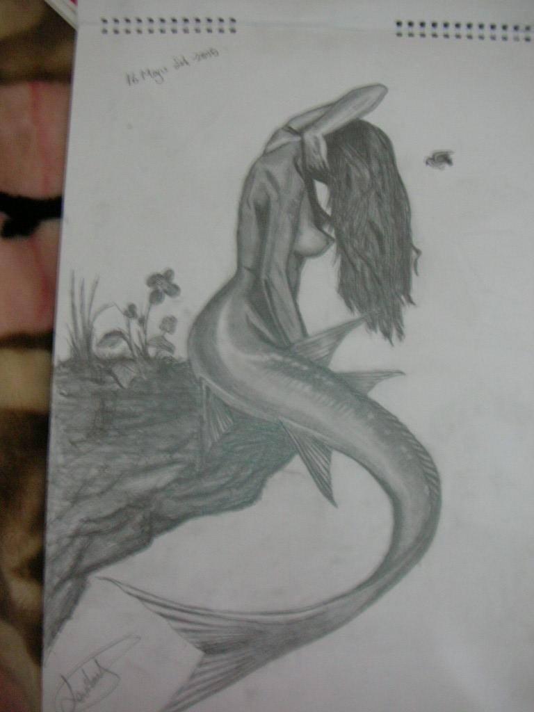Kara Kalem Deniz Kızı çizimi
