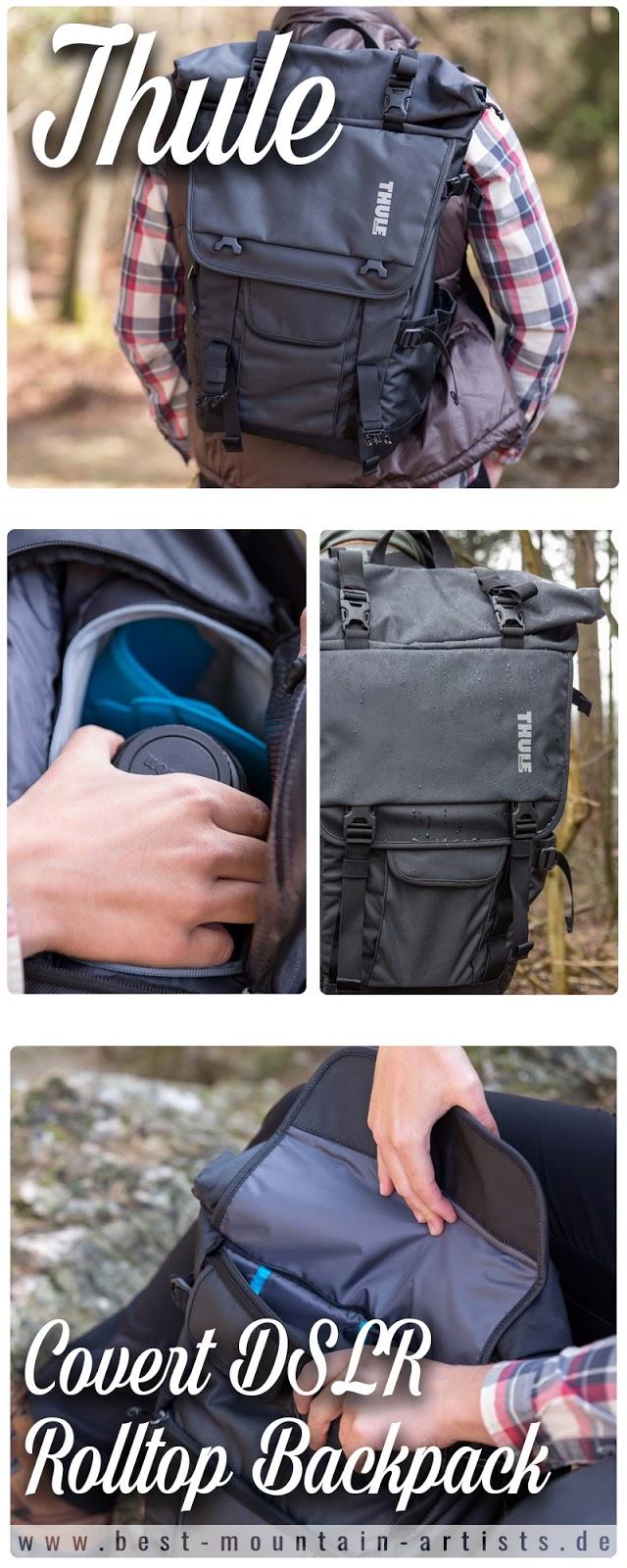 Covert DSLR Rolltop Backpack