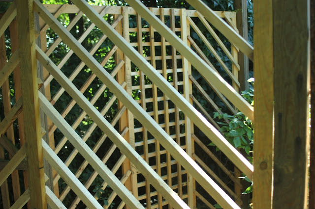 trellis gazebo home-made from pallet wood