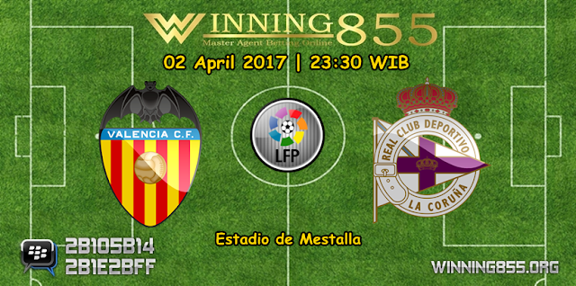 Prediksi Skor Valencia vs Deportivo La Coruna 02 April 2017