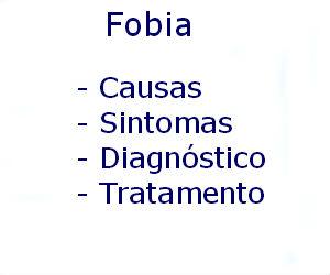 Fobia causas sintomas diagnóstico tratamento prevenção riscos complicações