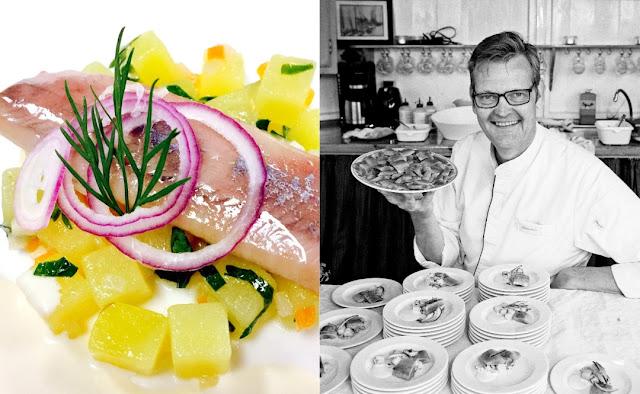 Matjes mit Kartoffel-Liebstöckelsalat