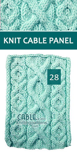 Knitted Cable Panel Pattern 28