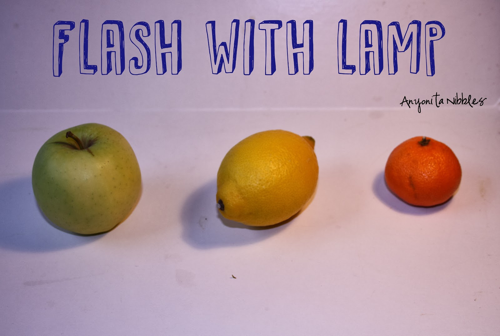 Avoid using the flash with food photography