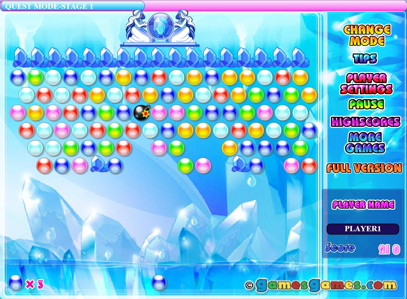 Bubble Elements Play Free Online Fun Game
