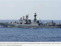 Kapal Perang Iran Pecundangi Armada Laut AS