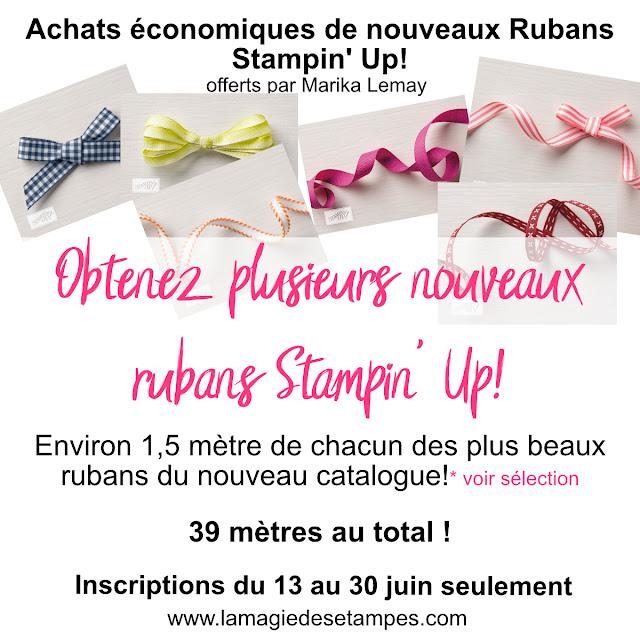 achats économiques rubans stampinup