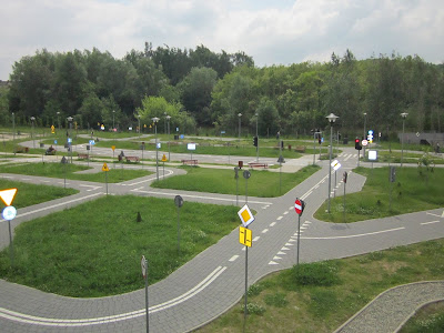 rowerowe miasteczko ruchu drogowego
