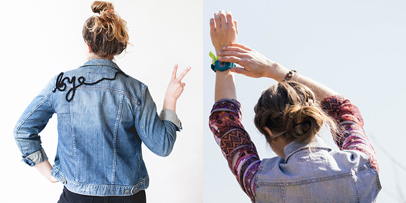 DIy to Try # Customized denim jackets