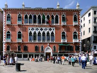 The former Palazzo Dandolo, facing the lagoon on Riva degli Schiavoni, now houses the luxurious Hotel Danieli