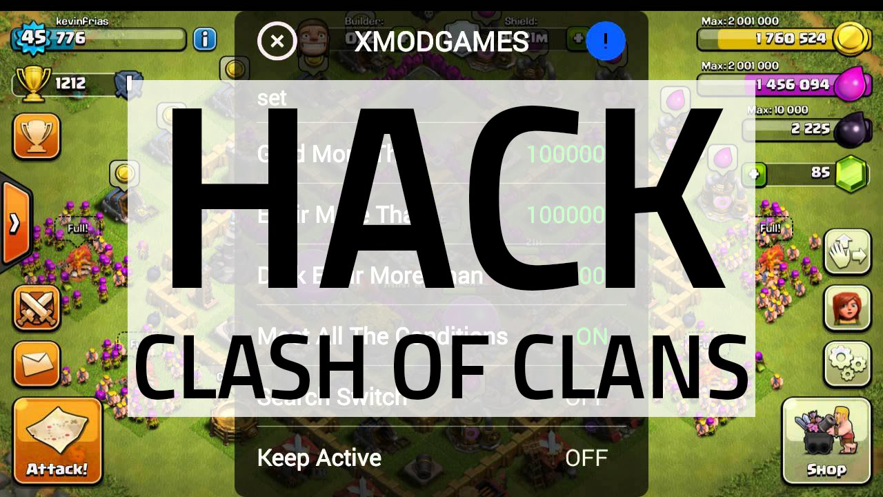 Hack Clash of Clans on Android (XmodeGames)  | Aryan's Blog