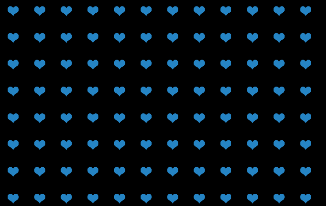 blue hearts pattern on black background design free graphic Kwikk