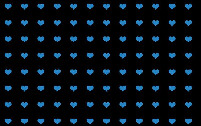 blue hearts pattern on black background design free graphic Kwikk