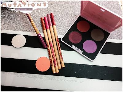 Review eyeshadow swacthes  - Collezione Mutations - Neve cosmetics