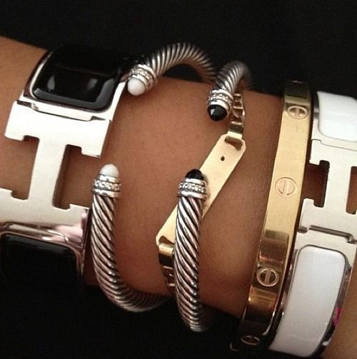 black and white hermes clic clac