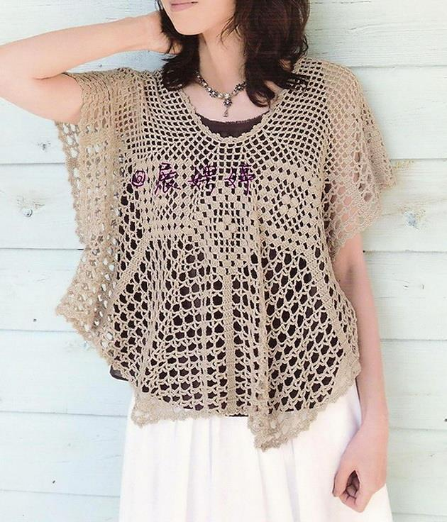 crochet sweater, women, poncho, lace
