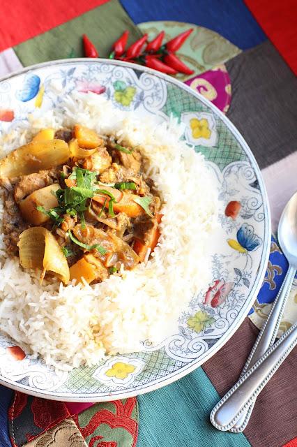 curry piquant aux restes de viande