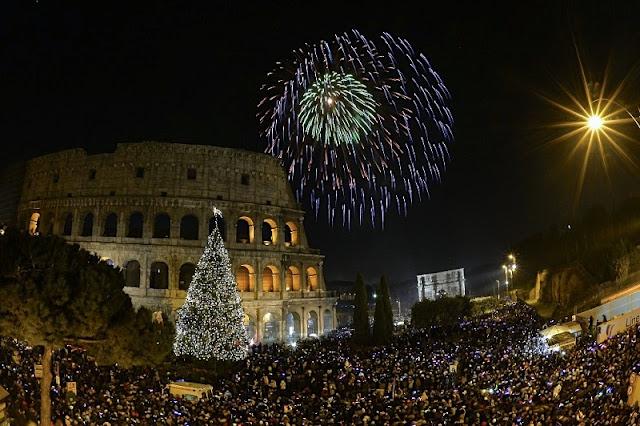 Comemoração do Ano Novo em Roma