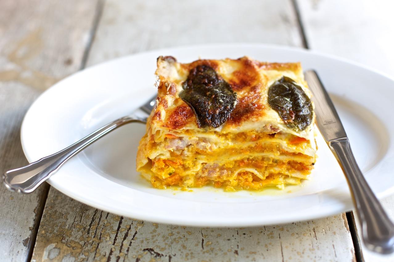 Lasagne, die Zweite mit Kürbis oder Die Auferstehung