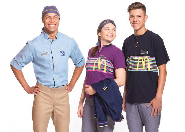 Novo uniforme dos funcionários do Mc Donalds