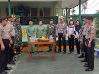Cara Unik Polres Lampung Utara Berikan Ucapan Selamat HUT TNI KE-73