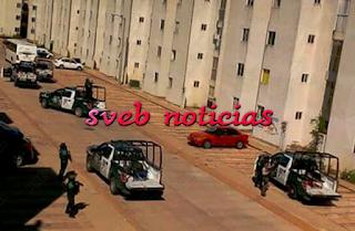 Fuerte operativo para asegurar un auto robado en Coatzacoalcos Veracruz