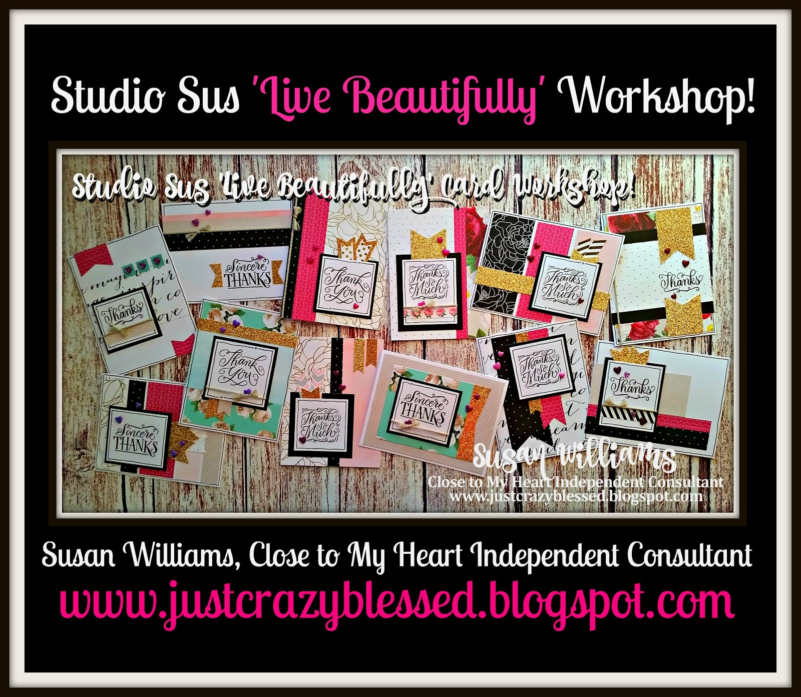 'Live Beautifully' Cardmaking Workshop!